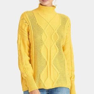 RACHEL ROY Marigold Chunky Cable Knit Sweater